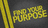 pic of vivacious  - Find your Purpose written on the road - JPG