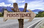 pic of persistence  - Persistence wooden sign with a road background - JPG