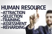 picture of descriptive  - Business man pointing to transparent board with text - JPG