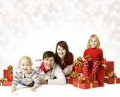 stock photo of christmas baby  - Christmas Family Portrait - JPG