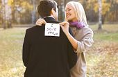 picture of propose  - Love relationships engagement and wedding concept  - JPG