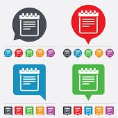 stock photo of bubble sheet  - Notepad sign icon - JPG