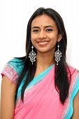 foto of traditional dress  - Young Indian girl in traditional clothing - JPG