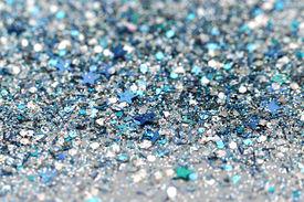 foto of xmas star  - Blue and Silver Frozen Snow Winter Sparkling Stars Glitter background - JPG