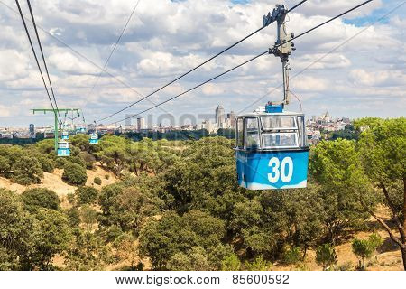 Cable Car In Madrid In Spain