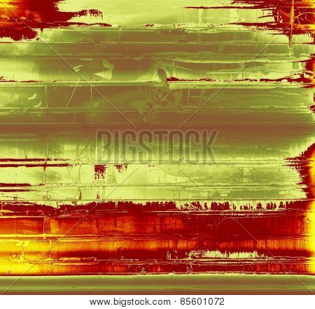Grunge background with space for text or image. With different color patterns: yellow (beige); gray; red (orange); green