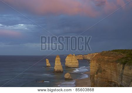 Twelve Apostles Before Sunrise