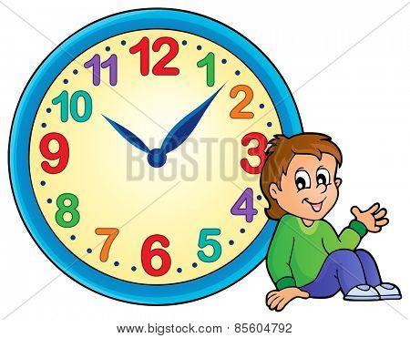 Clock theme image 2 - eps10 vector illustration.