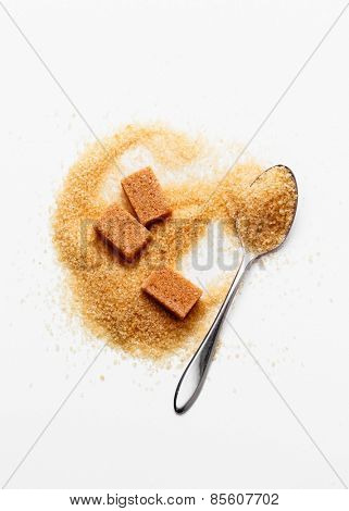 Spoon with brown sugar