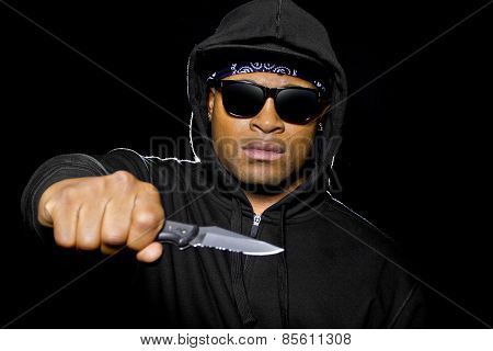 Criminal with a Knife