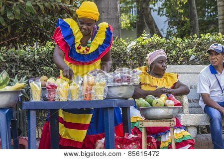 Black Woman Selling Fruits