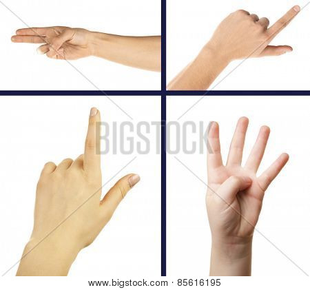 Collage of hand gestures