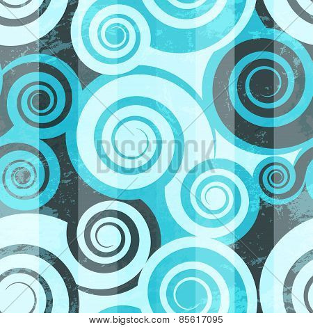 Abstract Blue Spiral Seamless