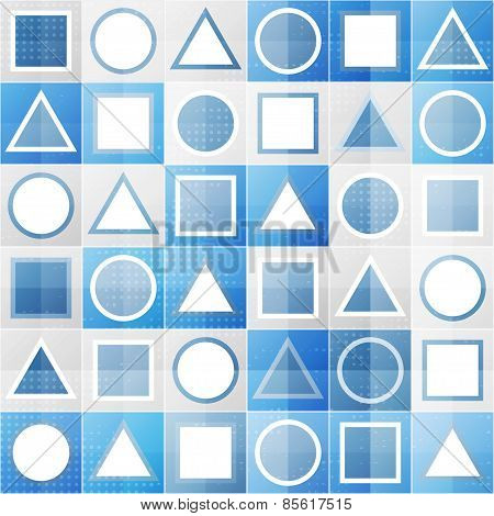 Abstract Blue Game Sign Seamless Pattern