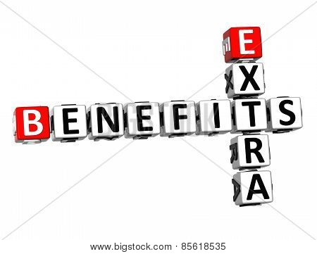 3D Crossword Extra Benefits On White Background