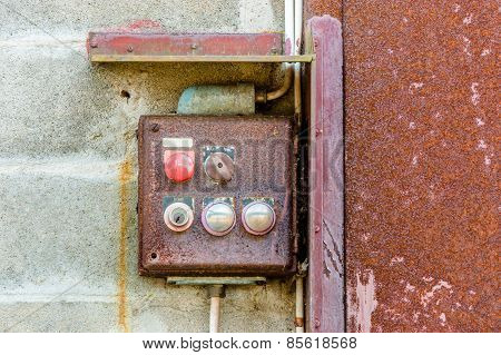 Old Rusty Electrical Control Station