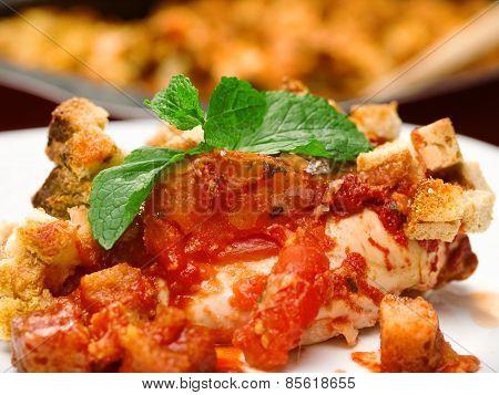 Italian Chicken Mozarella Bake