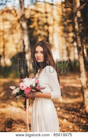 Beautiful Lady In A Bouquet