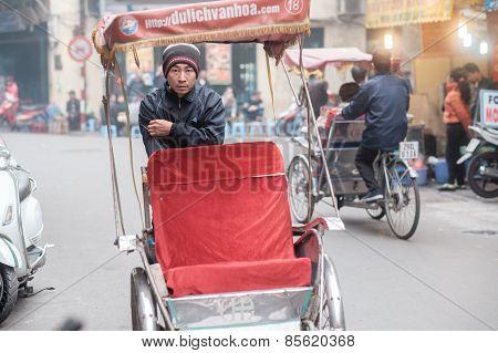 Rickshaw in Hanoi