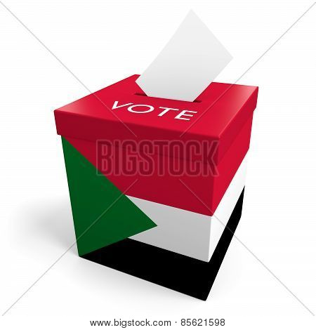 Sudan election ballot box for collecting votes