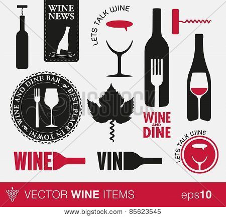 Wine labels and concepts