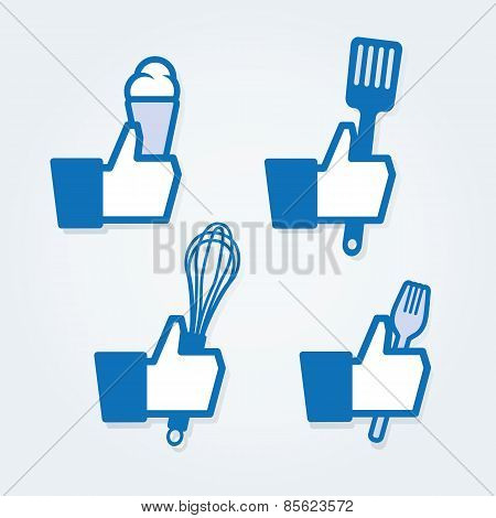 Thumbs up social icons