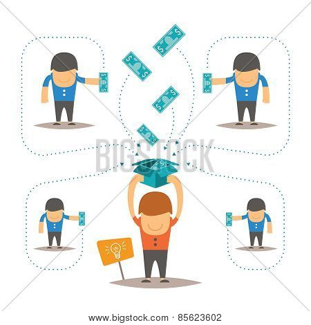 Crowdfunding Vector Concept