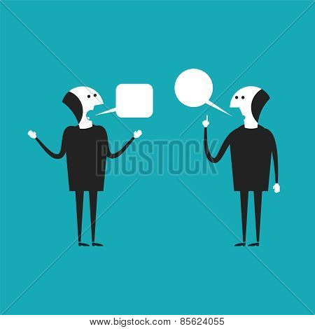 Discussion Vector Concept In Flat Cartoon Style