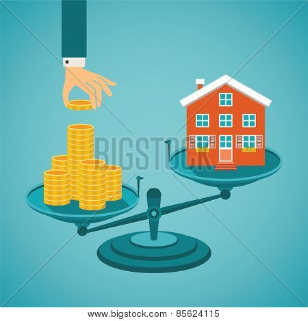 Vector Concept Of Investment In Real Estate