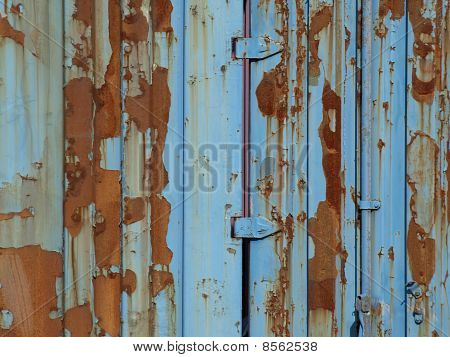 Blue And Rust Metal Building