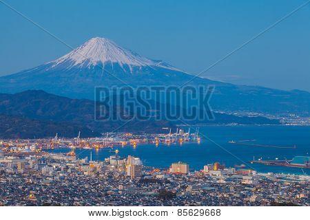Mountain Fuji and Shimizu city