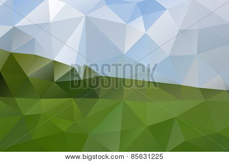 Vector Triangle Geometric Nature Sprign Background