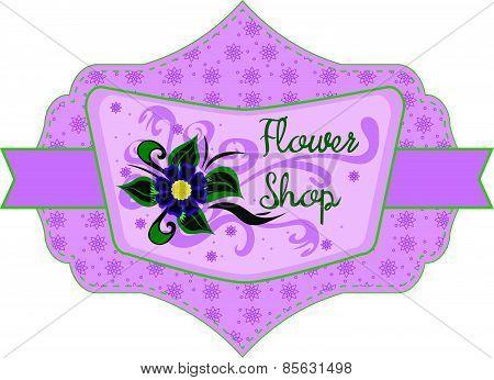 Flower shop label