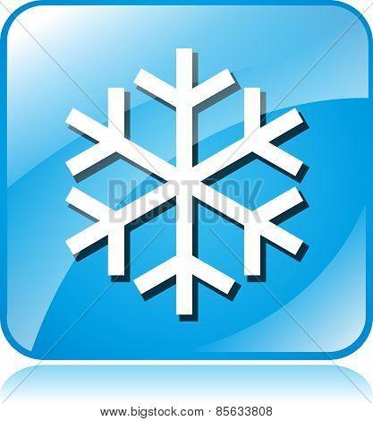 Cold Blue Square Icon
