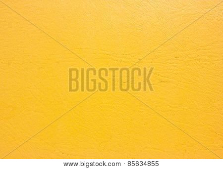 Yellow Leather Background.