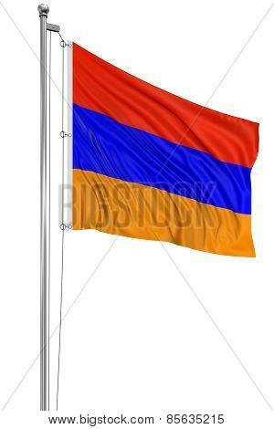 3D Armenian flag