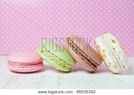 French macaroons .Dessert