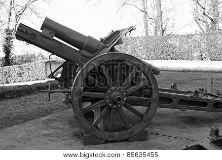 Old Gun Of World War I In Open-air Museum
