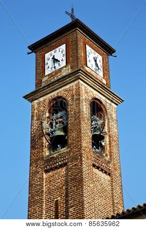 In Mozzate   Old Abstract D Church Tower Bell Sunny Day Milan