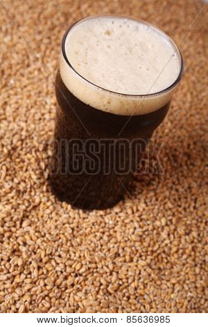 Pint Of Stout Over Malt