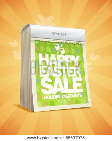 Easter sale design in form of tear-off calendar.