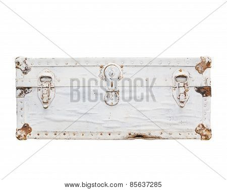 Old White Suitcase
