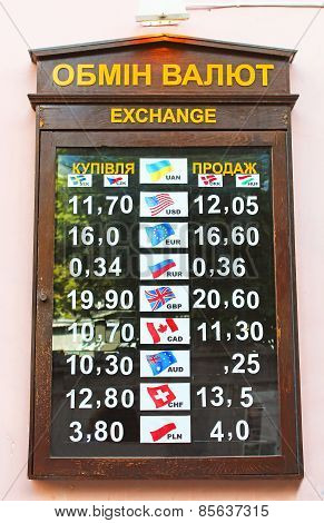 Rates Of Currency Exchange