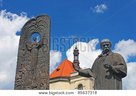 Monument To The Poet Taras Shevchenko, Lviv, Ukraine