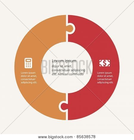 Business infographic template set. Vector illustration for cycle diagram, presentation and round chart.