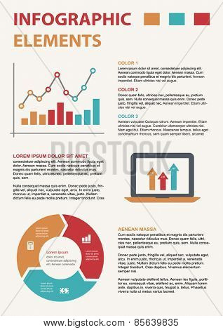 Business infographic template set. Vector illustration for cycle diagram, presentation and round chart
