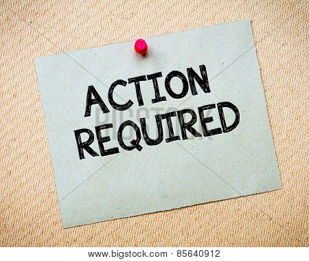 Action Required Message
