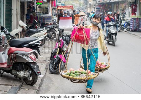 Fruits for sale in Hanoi