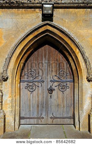 Church doorway, Moreton-in-Marsh.