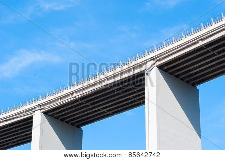 A Viaduct On An Italian Highway